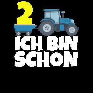 Traktor 2. Geburtstag Ich bin schon 2