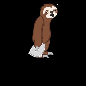 Sleepy Sloth Schläfriges Faultier Geschenk Xmas
