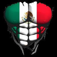 Mexiko-Flaggen-Torso muskulösen Körper abs