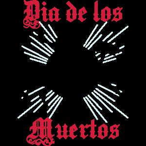 Dia de los Muertos-Halloween-Skelett-Tag der Toten