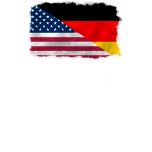 USA und Deutschland Flagge Freundschaft