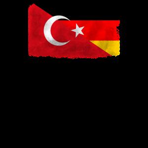 Türkei und Deutschland Flagge
