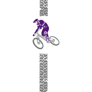 Mountainbiker Fahrrad Spur
