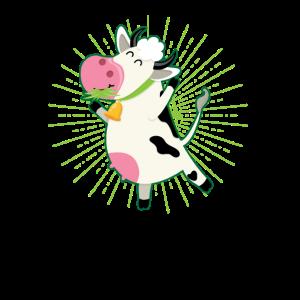Kuh Gras fressen jubeln