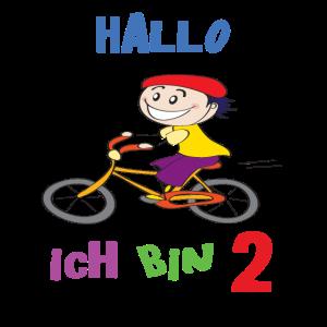 2 Jahre, Hallo ich bin 2, 2. Geburtstag, Radfahren