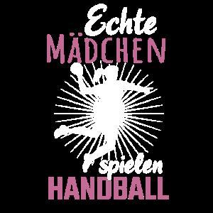 Echte Mädchen spielen Handball