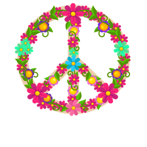 Peace Zeichen Flower Power Hippie Geschenk