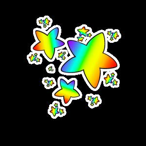 Sterne Sternchen Regenbogen Farbverlauf