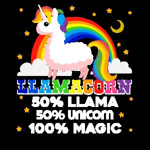 Llama Funny Unicorn Llama Shirt
