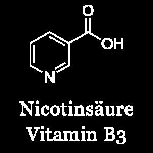 Nicotinsäure, Vitamin B3, Strukturformel, Chemie
