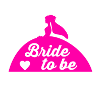 Prinzessin Königin Braut Bride to Be Pink JGA