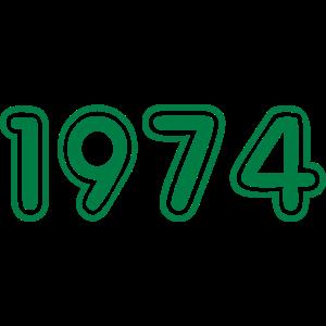 College Zahlen, Jahreszahlen, Jahrgang, 1974