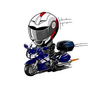FJR OceanBlue helm en kofferset
