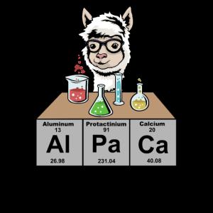 Chemie Lustiges Chemie Alpaka Alpaca Geschenk