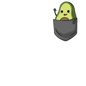 Avocado Lustiges Avocado in Brusttasche Geschenk