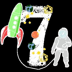 Siebter Geburtstag Astronaut