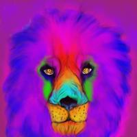 Der bunte Löwe