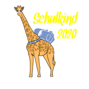 Schulkind 2020 Giraffe Schulranzen Einschulung