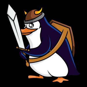 Pinguin Wikinger Krieger - Pinguine Design