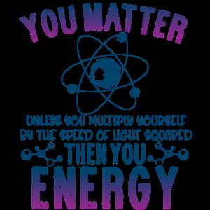Sie Angelegenheit Wissenschaft Energie Shirt Wissenschaftler Geschenk