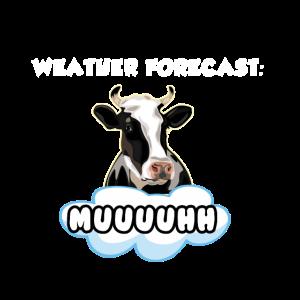Kuh-Wettervorhersage-Vieh-Rindfleisch-Milch-Tiergeschenk