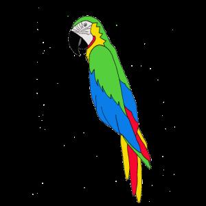 Papageienfarbe