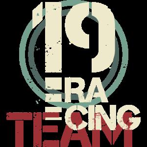 racing team number vintage