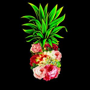 Ananas Blumen Muster
