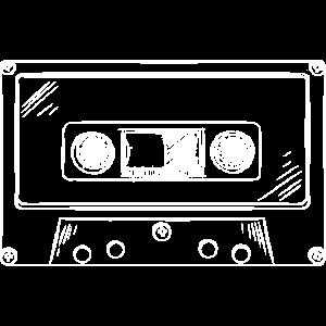 Kassette Skizze Musikkassette 80er 90er Jahre