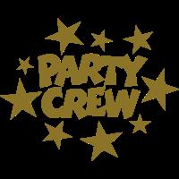 Party Crew Sterne Goldgelb