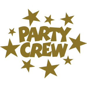 Party Crew Sterne Goldgelb
