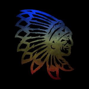 Indian Warrior Indianer mit Federn Häuptling