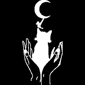 Moonchild mit weißer Katze.