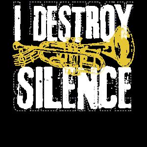 Lustiger Trompeter Marching Band Stille