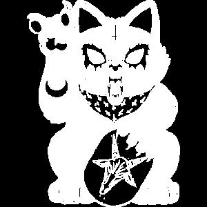 Heavy Metal Lucky Cat T-shirt Shirt for Cat Lover