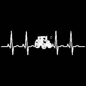 Herzschlag Bauer Landwirt Trecker Traktor Geschenk