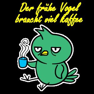 Vogel-Kaffee-Menge versieht Flügelnest-Tiergeschenk mit Federn
