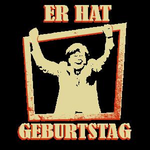 Er hat Geburtstag Merkel jubelt