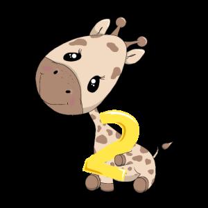 Giraffe 2. Geburtstag