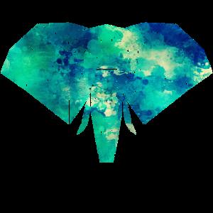 Formen Elefant in leuchtenden Farben
