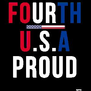 4. Juli Stolzer Amerikaner