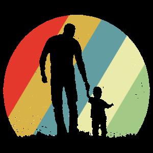 Vater und Sohn Vintage Retro