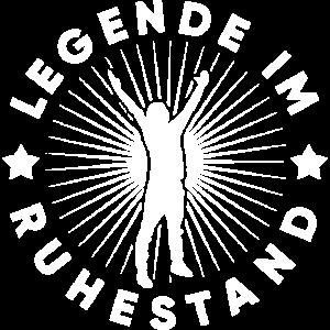"""Shirt - """"legende im ruhestand geschenkidee"""""""