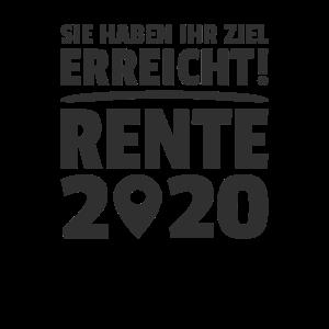 Ziel Erreicht Rente 2020 Rentner Ruhestand Pension