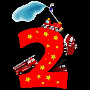 2. Geburtstag 2 Jahre Feuerwehr Auto Geschenk