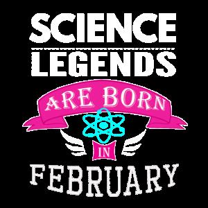 Wissenschaftslegenden werden im Februar Mädchen geboren