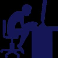 Symbol Arbeit Computer schreibtisch