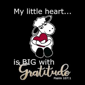 Christliches Design - Mein kleines Herz ist groß mit