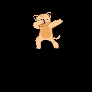 Dabbing Katze Tanzende Kitty Dacing Cat Katzenfan