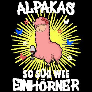 Alpaka Alpaca Einhorn süß Wolle Strahlen Geschenk